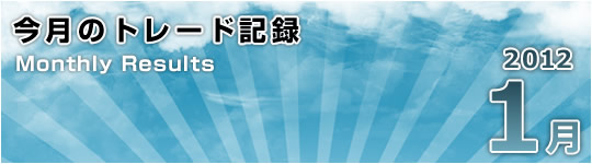 2012年1月のトレード総括(+1,171pips)