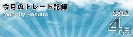 期待外れ!:2012年4月のトレード総括(+794pips)