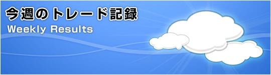 2012年1月9日~1月13日のトレード結果(+555pips)